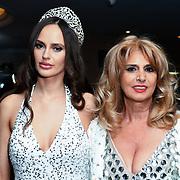 Roksana Slyahtitch of Miss USSR UK 2014 Arrivers at the Grand Final MISS USSR UK 2019 at Hilton hotel London on 27 April 2019, London, UK.