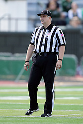 19 September 2015:  Umpire Jeff Conrad during an NCAA division 3 football game between the Simpson College Storm and the Illinois Wesleyan Titans in Tucci Stadium on Wilder Field, Bloomington IL