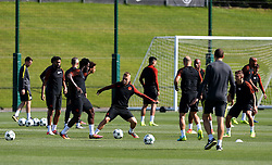 Wilfried Bony of Manchester City trains with his team mates - Mandatory by-line: Matt McNulty/JMP - 23/08/2016 - FOOTBALL - Manchester City - Training session ahead of Champions League qualifier against Steaua Bucharest