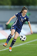 Lisa Evans (#11) of Scotland controls the ball during the 2019 FIFA Women's World Cup UEFA Qualifier match between Scotland Women and Switzerland at the Simple Digital Arena, St Mirren, Scotland on 30 August 2018.