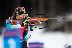 Justine Braisaz (FRA) during the Mass Start Women 12,5 km at day 4 of IBU Biathlon World Cup 2019/20 Pokljuka, on January 23, 2020 in Rudno polje, Pokljuka, Pokljuka, Slovenia. Photo by Peter Podobnik / Sportida