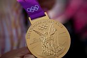 London, UK. Thursday 9th August 2012. London 2012 Olympic Games gold medal.