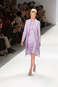 Lilac dress and matching long coat. By Zang Toi, shown at his Spring 20132 Fashion Week show in New York.