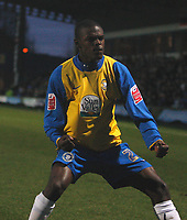 Photo: Steve Bond/Sportsbeat Images.<br /> Macclesfield Town v Hereford United. Coca Cola League 2. 26/12/2007. Theo Robinson celebrates his goal
