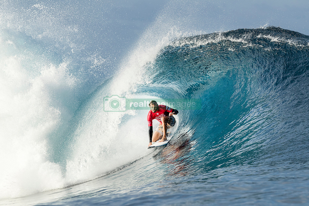 Aug 12, 2017 - Teahupo'o, French Polynesia, Tahiti - Frederico Morais of Portugal, current No.12 on the Jeep Leaderboard finished equal 25th in the Billabong Pro Tahiti after placing second to Nat Young of the USA in Heat 5 of Round Two. (Credit Image: © Kelly Cestari/World Surf League via ZUMA Wire)