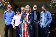 Stars Billy Connolly and Sean Landless with fellow actors Iain Glenn and David Bradley and director Udayan Prasad at a press conference to discuss their new film Gabriel & Me which had its world premiere at the UGC cinema in Edinburgh.