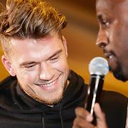 NLD/Almere/20190117 - Stare down van Boxing Influencers, Kazvibes, echte naam Kaz van der Waard