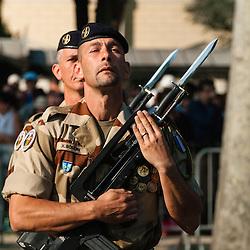 Célébration du 14 juillet, fête nationale française, mettant à l'honneur en 2013 l'opération Serval, la coopération franco-allemande et l'armée croate. Défilé militaire sur les Champs Elysées devant le président de la République.<br /> 14 juillet 2013, Paris (75)