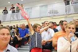 Bristol Flyers fan - Mandatory byline: Dougie Allward/JMP - 07966 386802 - 10/09/2015 - BASKETBALL - SGS Wise Arena - Bristol, England - Bristol Flyers v USA Select.