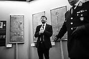 Dario Franceschini al Museo Storico dell'Arma dei Carabinieri di Piazza Risorgimento a Roma, dove sono stati presentati reperti archeologici recentemente recuperati dal Comando Carabinieri Tutela del Patrimonio. Roma 02 Giugno 2015. Christian Mantuano / OneShot