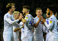 Leeds United's Patrick Bamford celebrates scoring his side's second goal with teammates<br /> <br /> Photographer Alex Dodd/CameraSport<br /> <br /> The EFL Sky Bet Championship - Leeds United v West Bromwich Albion - Friday 1st March 2019 - Elland Road - Leeds<br /> <br /> World Copyright © 2019 CameraSport. All rights reserved. 43 Linden Ave. Countesthorpe. Leicester. England. LE8 5PG - Tel: +44 (0) 116 277 4147 - admin@camerasport.com - www.camerasport.com