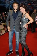 Nederlands Film Festival Utrecht - Openingsfilm Hoe Duur Was De Suiker in de Stadsschouwburg van Utrecht<br /> <br /> Op de foto: Nasrdin Dchar met Foukeline