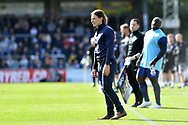 Wycombe Wanderers manager Gareth Ainsworth looks concerned during an injury to Matt Bloomfield during the EFL Sky Bet League 1 match between Wycombe Wanderers and Lincoln City at Adams Park, High Wycombe, England on 7 September 2019.