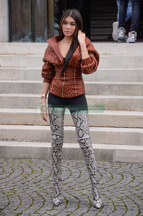 Madison Beer arriving at the Balmain show during Paris Fashion Week Ready to wear FallWinter 2017-18 at Hotel Potocki in Paris, France on March 02, 2017 . Photo by Julien Reynaud/APS-Medias/ABACAPRESS.COM  | 584373_018 Paris France