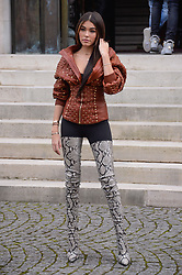 Madison Beer arriving at the Balmain show during Paris Fashion Week Ready to wear FallWinter 2017-18 at Hotel Potocki in Paris, France on March 02, 2017 . Photo by Julien Reynaud/APS-Medias/ABACAPRESS.COM    584373_018 Paris France