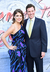 Princess Eugenie of York and Jack Brooksbank attending the Serpentine Summer Party 2018 held at the Serpentine Galleries Pavilion, Kensington Gardens, London.