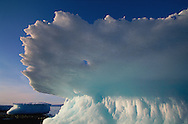 Icebergs melting on the beach, Qaanaaq, Greenland, Arctic<br /> SWD-002536