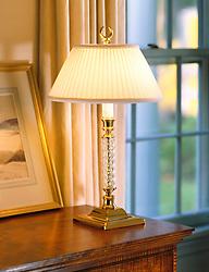 stiffel lamp on side table