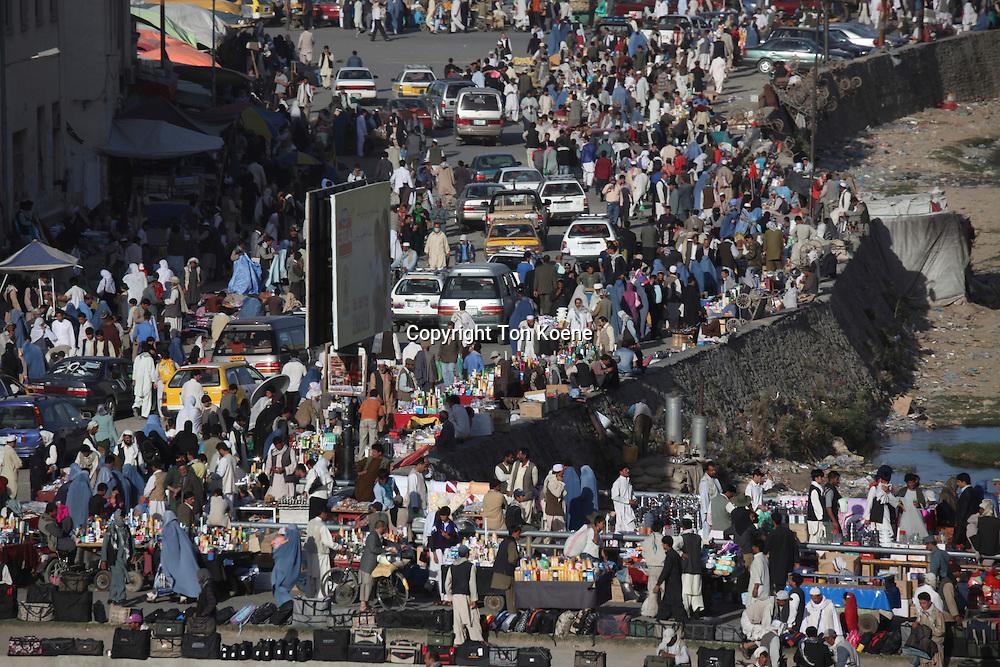 crowd on a kabul market