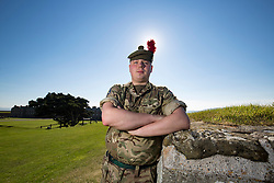 Kieran Lamarra. Feature on the Army's new Foxhound light mechanised infantry vehicles at Fort George army barracks, before they leave on convoy for England, before going into active service.