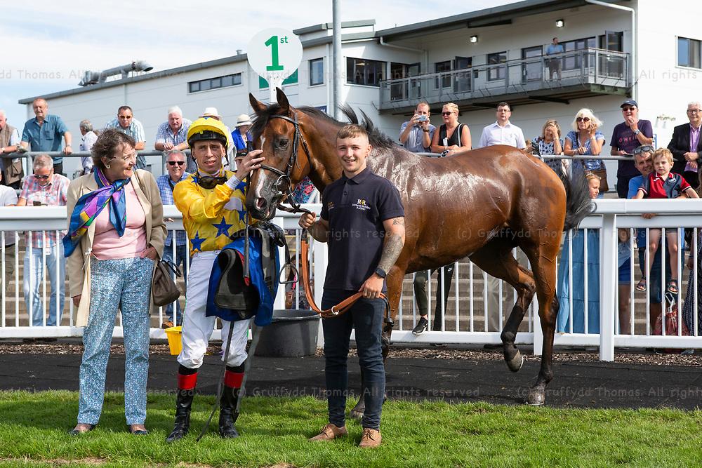 Ffos Las Racecourse, Trimsaran, Wales, UK. Tuesday 24 July 2018.  mintbet.com Best Odds Guaranteed Singles Multiples Handicap