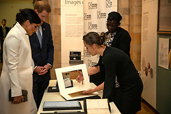 The Duke and Duchess of Sussex attend a gala performance of The Wider Earth at the Natural History Museum in London.