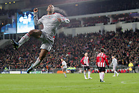 Fotball<br /> Nederland / Holland<br /> Foto: ProShots/Digitalsport<br /> NORWAY ONLY<br /> <br /> eindhoven, 09-12-2008, psv - liverpool<br /> ryan babel springt een gat in de lucht na zijn 1-1 doelpunt