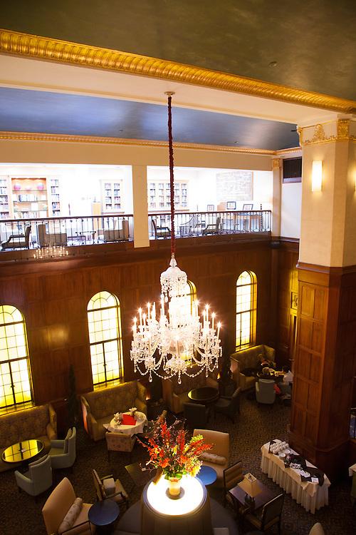 Lobby at the Heathman Hotel, Portland Oregon