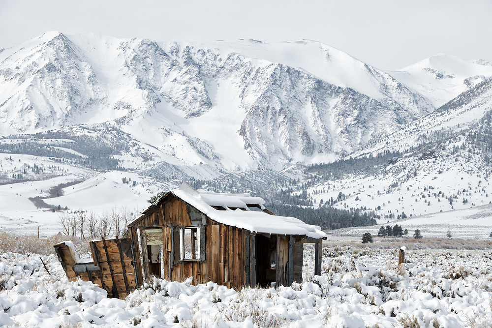 The old house on 395 near Lee Vining, California
