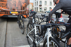 Boels-Dolmans Cycling Team team bikes are ready for Liege-Bastogne-Liege - a 136 km road race, between Bastogne and Ans on April 22, 2018, in Wallonia, Belgium. (Photo by Balint Hamvas/Velofocus.com)