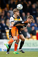 Nathan Smith of Port Vale in action with Harry Chapman of Sheffield Utd during the English League One match at Vale Park Stadium, Port Vale. Picture date: April 14th 2017. Pic credit should read: Simon Bellis/Sportimage