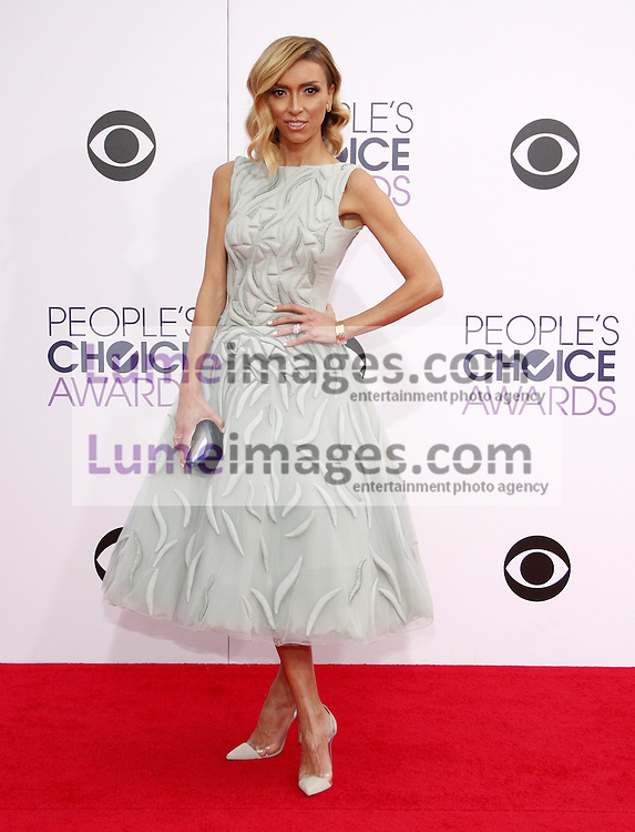 Giuliana Rancic at the 41st Annual People's Choice Awards held at the Nokia L.A. Live Theatre in Los Angeles on January 7, 2015. Credit: Lumeimages.com