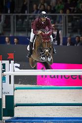 Al Attiyah Hamad Al Mohammed (KSA) - Ultimo<br /> Longines FEI World Cup™ Jumping Final 2013/2014<br /> Lyon 2014<br /> © Dirk Caremans