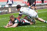 Rugby Union - 2020 / 2021 ER Challenge Cup - Quarter-Final - Leicester Tigers  vs Newcastle Falcons - Welford Road<br /> <br /> Harry Potter of Leicester Tigers scores the final try of the game to make it 37-15<br /> <br /> Credit : COLORSPORT/BRUCE WHITE