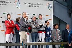 Team Belgium, Van Roosbroeck maurice, Philippaerts Olivier, Bruyninx Frederick, Wathelet Gregoery, Philippaerts Nicola<br /> CHIO Aachen 2017<br /> © Hippo Foto - Sharon Vandeput<br /> 20/07/2017