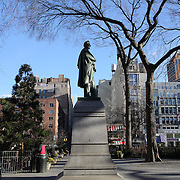 The Abraham Lincoln statue in Union Square, Manhattan, made by sculpt Henry Kirke Brown, New York, USA. Photo Tim Clayton