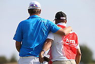 Bernd Wiesberger (AUT) hugs caddie Shane as they complete and win the Final Round of the 2015 Alstom Open de France, played at Le Golf National, Saint-Quentin-En-Yvelines, Paris, France. /05/07/2015/. Picture: Golffile | David Lloyd<br /> <br /> All photos usage must carry mandatory copyright credit (© Golffile | David Lloyd)
