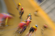 Geraint Thomas track day at the Wales national velodrome in Newport. pic by Andrew Orchard
