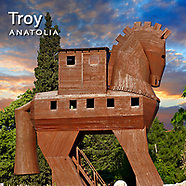Troy Archaeological Site Pictures, Images & Photos. Turkey