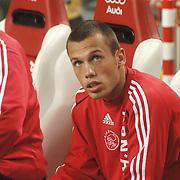NLD/Amsterdam/20060928 - Voetbal, Uefa Cup voorronde 2006, Ajax - IK Start, reservebank met John Heitinga