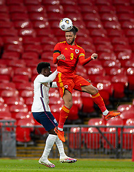 LONDON, ENGLAND - Thursday, October 8, 2020: Wales' Tyler Roberts during the International Friendly match between England and Wales at Wembley Stadium. The game was played behind closed doors due to the UK Government's social distancing laws prohibiting supporters from attending events inside stadiums as a result of the Coronavirus Pandemic. England won 3-0. (Pic by David Rawcliffe/Propaganda)
