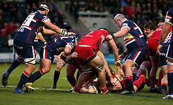 Jason Harris-Wright of Bristol Rugby scores a try - Mandatory by-line: Robbie Stephenson/JMP - 02/12/2017 - RUGBY - Castle Park - Doncaster, England - Doncaster Knights v Bristol Rugby - Greene King IPA Championship