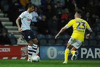 Preston North End's Lukas Nmecha under pressure from Leeds United's Kalvin Phillips<br /> <br /> Photographer Kevin Barnes/CameraSport<br /> <br /> The EFL Sky Bet Championship - Preston North End v Leeds United -Tuesday 9th April 2019 - Deepdale Stadium - Preston<br /> <br /> World Copyright © 2019 CameraSport. All rights reserved. 43 Linden Ave. Countesthorpe. Leicester. England. LE8 5PG - Tel: +44 (0) 116 277 4147 - admin@camerasport.com - www.camerasport.com