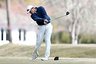 WILMINGTON, NC - MARCH 19: Kent State's Chase Johnson tees off on the Ocean Course ninth hole. The first round of the 2017 Seahawk Intercollegiate Men's Golf Tournament was held on March 19, 2017, at the Country Club of Landover Nicklaus Course in Wilmington, NC.
