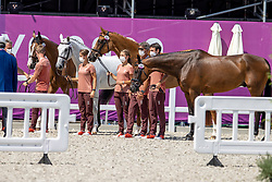 Team Switzerland, Godel Brian, Johne'r Eveline, Bodenmuller Mélody, Vogg Felix<br /> Olympic Games Tokyo 2021<br /> © Hippo Foto - Dirk Caremans<br /> 29/07/2021