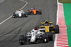 May 13, 2018 - Barcelona, Spain - Carlos Sainz, team Renault, and Marcus Ericsson, team Alfa Romeo Sauber, during the GP Spain F1, on 13th May 2018 in Barcelona, Spain. (Credit Image: © Joan Valls/NurPhoto via ZUMA Press)