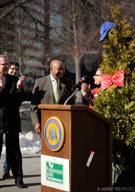 Tree Philly: City of Arborly Love kickoff event<br /> <br /> LOVE Park<br /> <br /> February 20, 2014