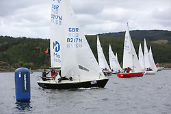 The Silvers Marine Scottish Series 2014, organised by the  Clyde Cruising Club,  celebrates it's 40th anniversary.<br /> Day 1, Sonata Class, Start, with 8217N, So, Gareth Martel, Ballyhome YC<br /> <br /> Racing on Loch Fyne from 23rd-26th May 2014<br /> <br /> Credit : Marc Turner / PFM