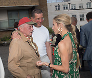 DAVID BAILEY; ANTHONY GORMLEY; LAURA BAILEY, Alex Shulman goodbye party. Dock Kitchen, Ladbroke Grove. London. 22 June 2017