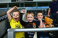Young fans ready for the game during the EFL Sky Bet Championship match between Burton Albion and Wolverhampton Wanderers at the Pirelli Stadium, Burton upon Trent, England on 30 September 2017. Photo by John Potts.